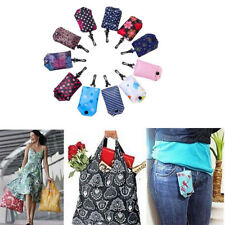 Grocery Storage Handbag Foldable Key Chain Tote Pouch Reusable Shopping Bag Hot