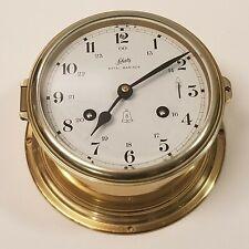 New listing Vintage Schatz Royal Mariner Brass Ship's Clock With Key. Works.