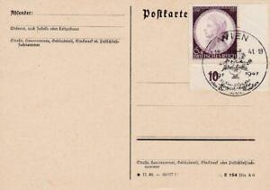 GERMANY 1941 MOZART ISSUE POSTED ON CARD WIEN AUSTRIA 1941