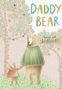 """Hallmark Daddy Birthday Card """"Daddy Bear You're Just Brilliant"""""""