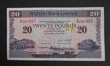 Ulster Bank Limited £20 Banknote. L. McCarthy. 2007.No. F8591921.AH6568.