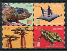 United Nations UN Geneva 2017 MNH Endangered Species 4v Block Frogs Trees Stamps