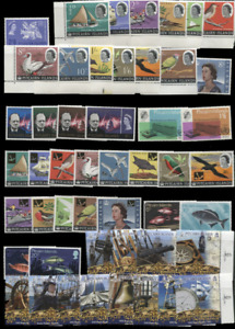 PITCAIRN ISLANDS 1963-2007 COLLECTION ON BLACK PAGE MNH topicals include ships b