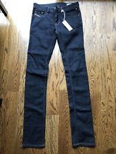 New $280 Woman's Diesel Dark Blue Wash Skinny Jeans Pants – size W28 / L34