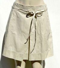 NWT Ann Taylor LOFT Khaki Tan front pleats women's casual skirt Sz 8, 10, 12, 14
