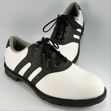 New - Adidas Z-Traxion Stripe Golf Shoes Mens Size 6M Black & White Soft Spikes