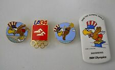 Vintage 1984 L.A. Summer Olympics Swimming & Diving Events 4 pin set