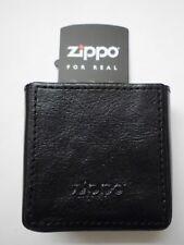 Zippo Cigarette Case Zigaretten Box in schwarzem Leder in Geschenk Box