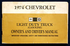Owner's Manual * Betriebsanleitung 1974 Chevrolet Chevy Light Duty Truck (USA)