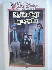 DISNEY- No Deposit, No Return (VHS) DON KNOTTS- WHITE CLAMSHELL