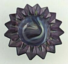 Boyd Starburst Heavy Paperweight Ashtray Trinket Dish Unique Slag Color