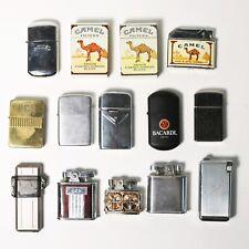 Lot of 14 Vtg Cigarette Lighters - Camel, Advertising, Ronson, Weisner, Barlow