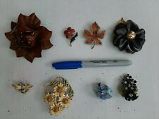 Broches Pins Lot #11 Lot Of 8 Vintage Enamel