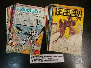 42 Issues of Robotech LOT!!! Macross Sentinels Masters Comico 1980s VG-FN