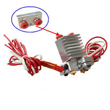 3D Printer Chimera Hotend kit Multi color Dual Head Chimera Extruder w/ wires