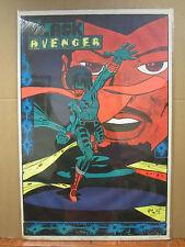 Vintage The Black Avenger blacklight 1973 poster 3633
