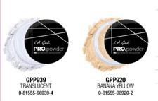 L.A HD PRO Setting Powder set of two PCS GPP920 Banana Yellow GPP939 Translucent