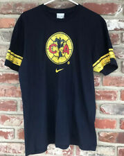 Vintage Nike Gray Tag Central America Soccer Men's T Shirt Size Large Blue
