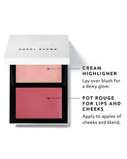 BOBBI BROWN CHEEK GLOW PALETTE IN PINK OPAL & HOMECOMING PINK NEW