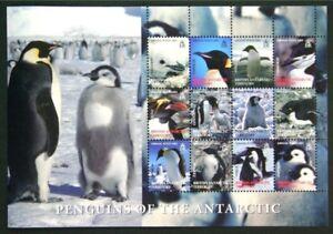 N114 BR. ANTARCTIC 2008 Penguins sheetlet of 16 Mint NH