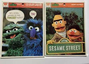 1981 Oscar the Grouch Newspaper Vendor Vintage Whitman frame-tray puzzle #4524A-33 Sesame Street