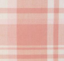 Pink, White Plaid, Cotton Fabric. 2½ Yards. Woven, Madras Tartan