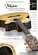 More details for takamine santa fe acoustic guitar advert - 1997 advertisement