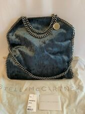 cea0e19af21 Stella McCartney Falabella 3-Chain Foldover Velvet Tote Bag NWT Charcoal   1090