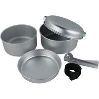 5 Pcs Portable Camping Cook Cooking Cookware Set Aluminium Pots Pans Yellowstone
