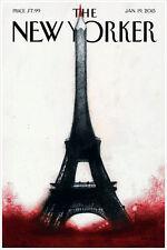 "The New Yorker Cover Paris Jan 2015 Art Print Poster 16"" x 24"""