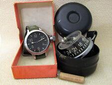 ZChZ Zlatoustov Vintage USSR Soviet Navy Diver Diving Watch + Diver Compass EXC!