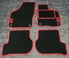 Car Mats to fit Volkswagen Golf Mk5 (04-09) + R/R-Line Logos - Black/Red