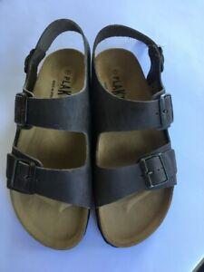 Mens Plakton Baku 105113 Sprinter2 Adjustable Casual Brown Waxy Leather Sandals