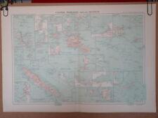 Grande Carte COLONIES FRANCAISES DU PACIFIQUE, 1934
