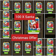 100 X Santa  :- Coin Master Cards (Get in 5 min) + 25 Any Cards Your Choice