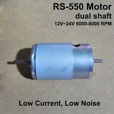 DC12V~24V 8000RPM Dual Double Shaft RS-550 DC Motor Silent Low Power Consumption