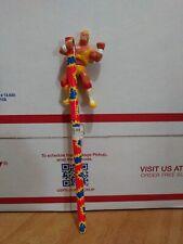 WWE WWF Hulk Hogan Pencil Hugger Applause Titan Sports 1990 Vintage Mini Figure