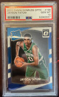 2017-18 Donruss Optic #198 Jayson Tatum Boston Celtics RC Rookie PSA 10 Gem Mint