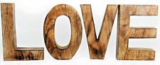 Large Wooden Love Word Letters Sign Standing Mango Wood Ornament