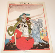 "VOGUE ""New York Fashions Number"" March Fifteenth 1921  Print 1970's Vintage"
