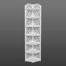 7-Tier Modular Cut-Out Quarter-Circle Wood-Plastic Composite Corner Shelf