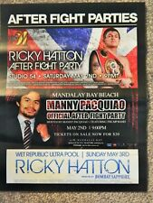 BOXING RICKY HATTON VS MANNY PACQUIAO AFTER PARTY MAY 2 2009 PROMO FLYER RARE