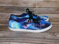 VAN Sizes 9.5 Womens Galaxy Sneakers Blue Purple Night Sky Star Shoes