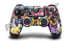 PLAYSTATION 4 (ps4) Controller Copertura/Pelle/Avvolgere-Graffiti BOMBA Design