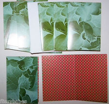 5 x de color verde pálido Tarjetas de felicitación en blanco 95x95mm con 100 X 100 Mm Sobres 282168