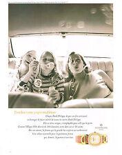 PUBLICITE ADVERTISING  1996   PHILIPPE PATEK  montre collection ELLIPSE D'OR