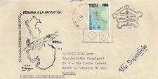 LETTRE ENVELOPPE AMERIQUE DU SUD PEROU POUR LA VALETTE DU VAR 1989