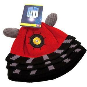 NEW Dr Doctor Who RED DALEK Hat Beanie - Official BBC Licensed by Elope