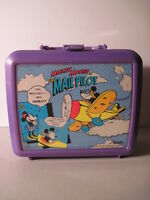 Mickey Mouse The Mail Pilot  Plastic  Lunchbox, No Thermos! (Used).  Walt Disney