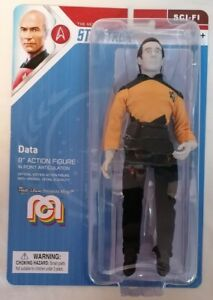 "STAR TREK - *MOC* Mego Star Trek Next Generation Commander Data 8"" Action Figure"